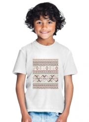 T-Shirt Garçon BROWN TRIBAL NATIVE