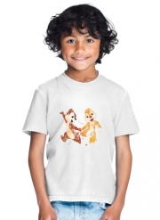 T-Shirt Boy Chip And Dale Watercolor
