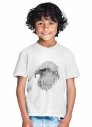 T-Shirt Garçon cracked Bald eagle