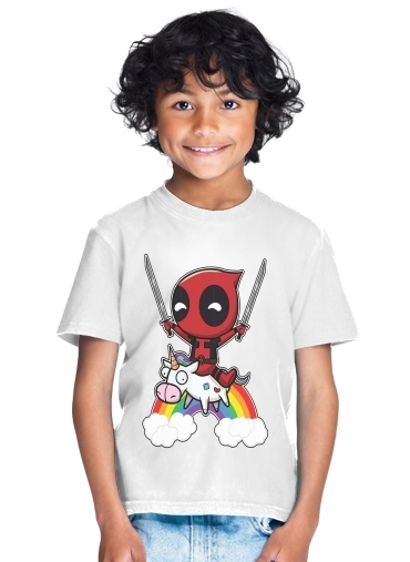 T-Shirt Garçon Deadpool Unicorn