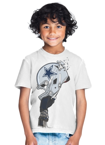 T-Shirt Boy Football Helmets Dallas