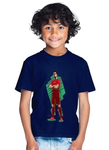 big sale c7d76 271e9 T-Shirt Boy Football Legends: Cristiano Ronaldo - Portugal blue - Kids