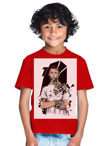 best loved a6941 04c48 T-Shirt Boy Football Legends: Cristiano Ronaldo - Real Madrid Robot red -  Kids