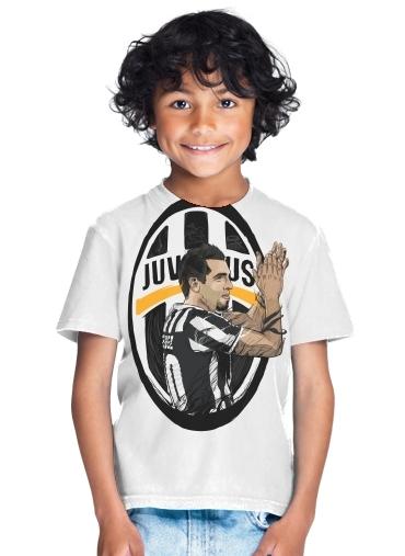 b5190b47d19 T-Shirt Boy Football Stars  Carlos Tevez - Juventus white - Kids