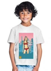 T-Shirt Garçon GTA collection: Bikini Girl Miami Beach