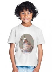 T-Shirt Boy Painting Baby With Owl Cap in a Teacup