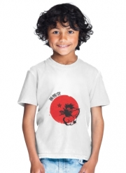 T-Shirt Boy Red Sun Young Monkey
