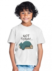 T-Shirt Garçon Ronflex Not Today pokemon