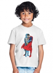 T-Shirt Garçon Superman And Batman Kissing For Equality