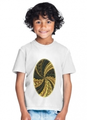 T-Shirt Garçon Twirl and Twist black and gold