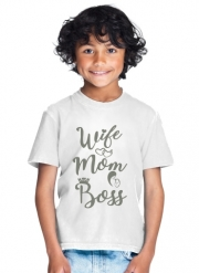 T-Shirt Garçon Wife Mom Boss