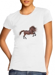 T-Shirt Manche courte cold rond femme A Horse In The Sunset