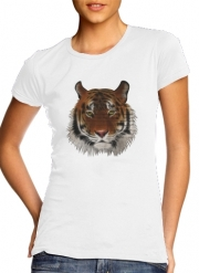 T-Shirt Manche courte cold rond femme Abstract Tiger
