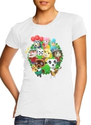 T-Shirt Manche courte cold rond femme Animal Crossing Artwork Fan