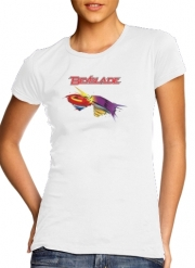 T-Shirt Manche courte cold rond femme Beyblade toupie magic