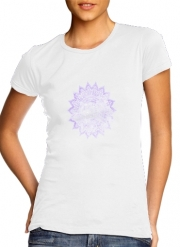 T-Shirt Manche courte cold rond femme Bohemian Flower Mandala in purple