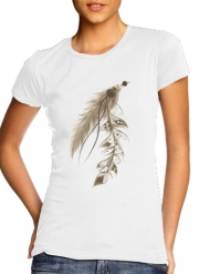 T-Shirt Manche courte cold rond femme Boho Feather