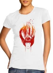 T-Shirt Manche courte cold rond femme Burning Forest