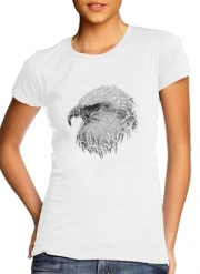 T-Shirt Manche courte cold rond femme cracked Bald eagle