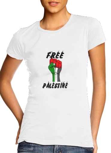 T-Shirt Manche courte cold rond femme Free Palestine