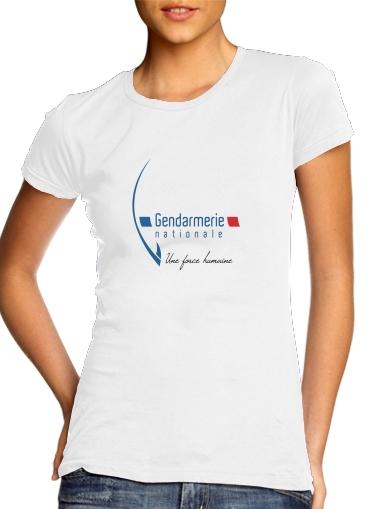 T-Shirts Gendarmerie Une forme humaine