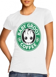 T-Shirt Manche courte cold rond femme Groot Coffee