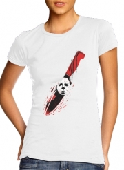 T-Shirt Manche courte cold rond femme Hell-O-Ween Myers knife