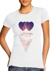 T-Shirt Manche courte cold rond femme I will love you