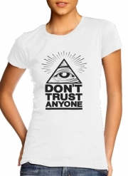 T-Shirt Manche courte cold rond femme Illuminati Dont trust anyone