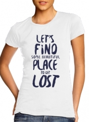 T-Shirt Manche courte cold rond femme Let's find some beautiful place