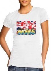 T-Shirt Manche courte cold rond femme Minions mashup One Direction 1D