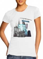 T-Shirt Manche courte cold rond femme New York City II [blue]