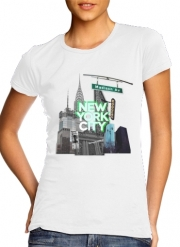 T-Shirt Manche courte cold rond femme New York City II [green]