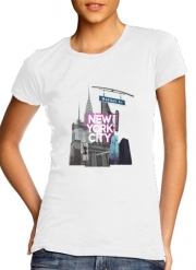 T-Shirt Manche courte cold rond femme New York City II [pink]
