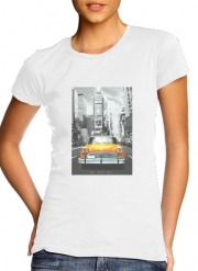 T-Shirt Manche courte cold rond femme Taxi Jaune Ville de New York City