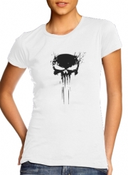 T-Shirt Manche courte cold rond femme Punisher Skull