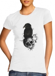 T-Shirt Manche courte cold rond femme Raven and Skull