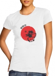 T-Shirt Manche courte cold rond femme Red Sun Young Monkey