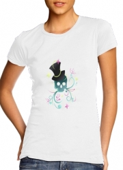 T-Shirt Manche courte cold rond femme Skull Pop Art Disco