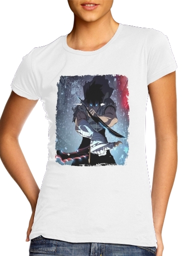 T-Shirt Manche courte cold rond femme solo leveling jin woo