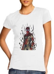 T-Shirt Manche courte cold rond femme Spiderman Poly