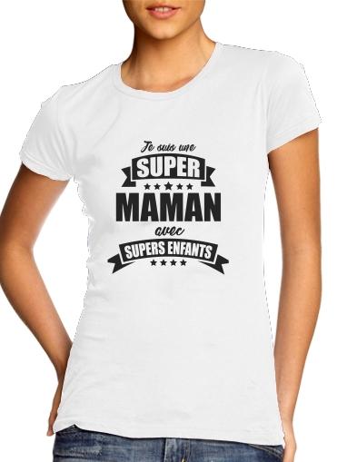 T-Shirts Super maman avec super enfants