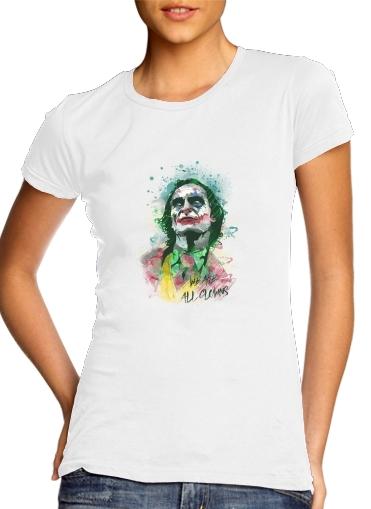T-Shirts Watercolor Joker Clown