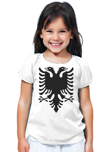 T-Shirt Fille Albanie Painting Flag