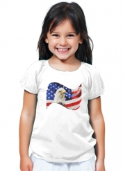 T-Shirt Fille American Eagle and Flag