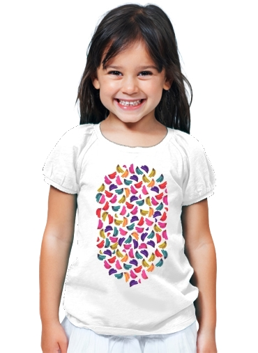 T-Shirt Girl Bananas  Coloridas