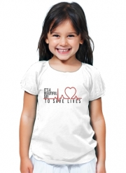 T-Shirt Fille Beautiful Day to save life