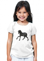 T-Shirt Fille Black Unicorn