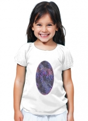 T-Shirt Fille Blue pink bubble cells pattern