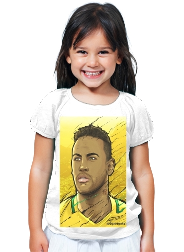 76b074cb5edf4 T-Shirt Fille Brazilian Gold Rio Janeiro white - Enfant